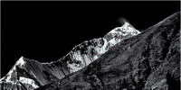 North Face of Mt. Dhaulagiri Monochrome