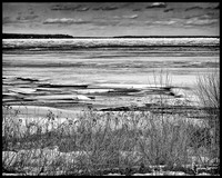 Lake Superior Ice Monochrome